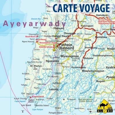Birmanie - Carte voyage - 1 : 1 500 000