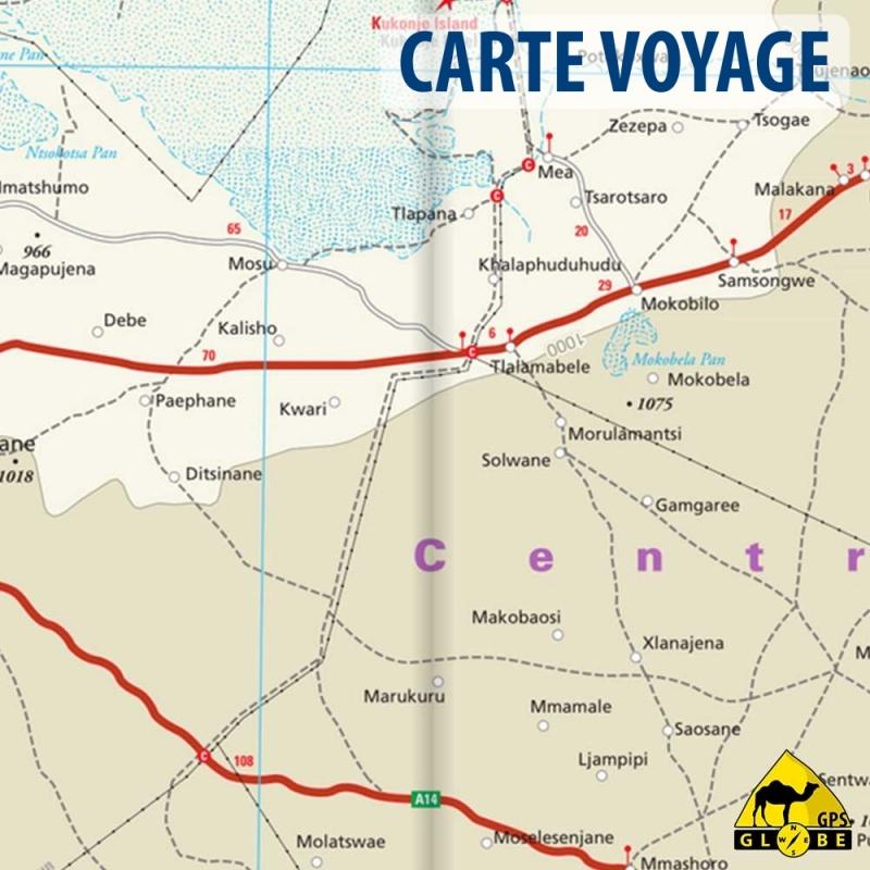 Botswana - Carte voyage - 1 : 1 000 000