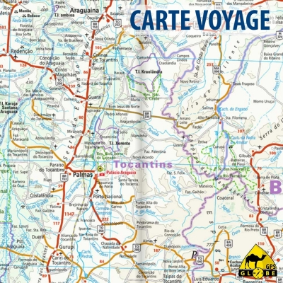 Brésil - Carte voyage - 1 : 3 850 000