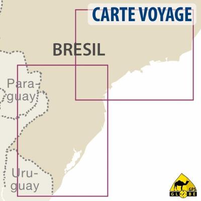 Brésil (sud) - Carte voyage - 1 : 1 200 000