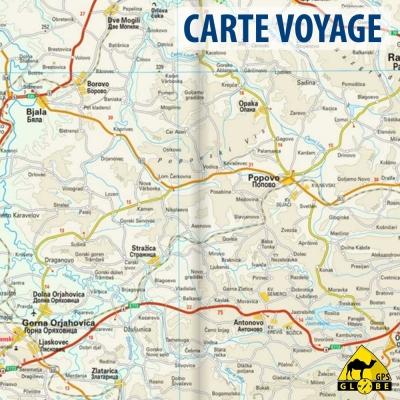 Bulgarie - Carte voyage - 1 : 400 000
