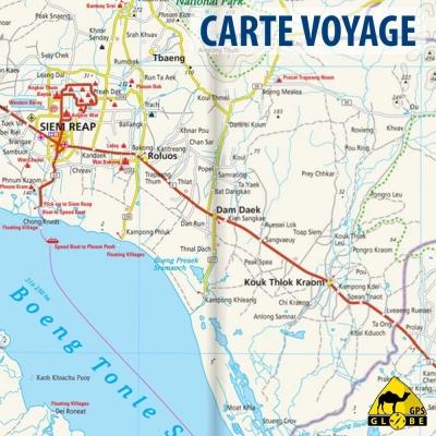 Cambodge - Carte voyage - 1 : 500 000