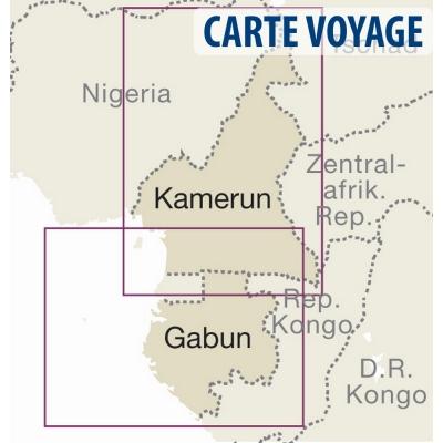 Cameroun / Gabon - Carte voyage - 1 : 1 300 000