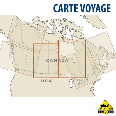 Canada (Centre) - Carte voyage - 1 : 1 900 000