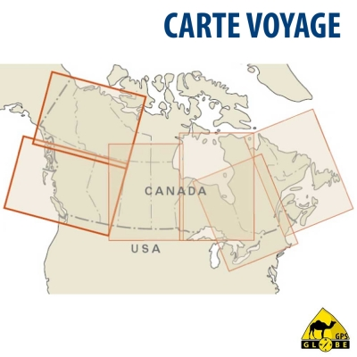 Canada (Ouest) - Carte voyage - 1 : 1 900 000