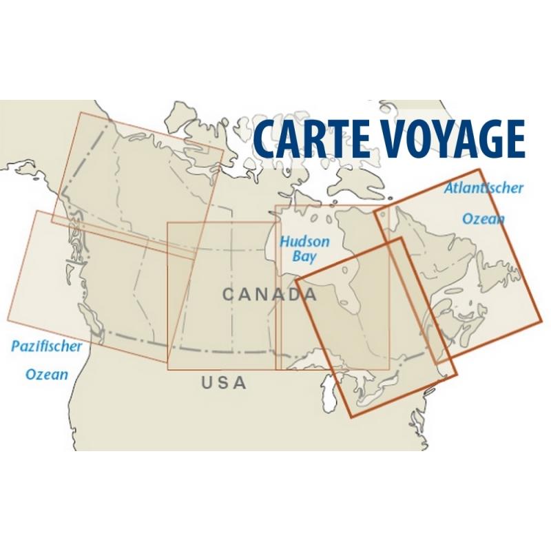 Carte Canada Ign.Canada Ouest Carte Voyage 1 1 900 000 Gps Globe