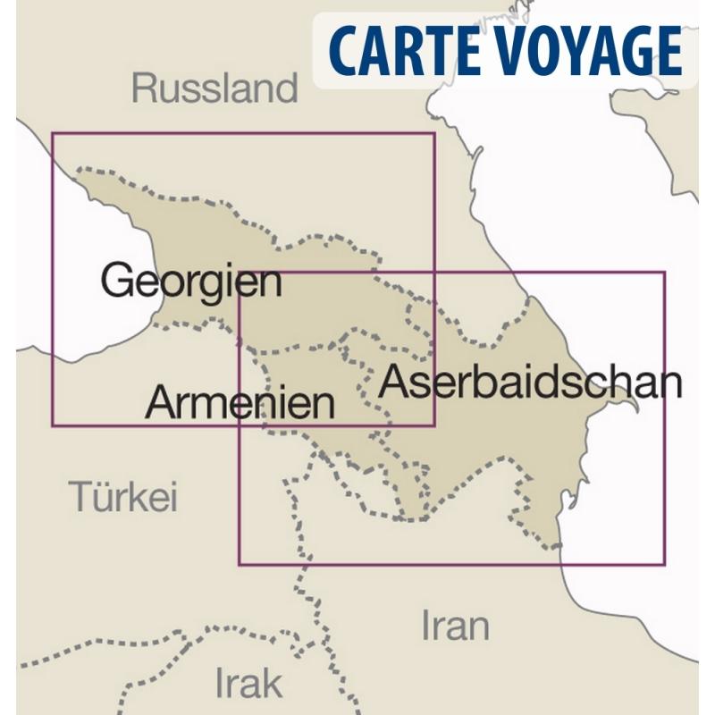 Arménie - Carte touristique - 1 : 250 000
