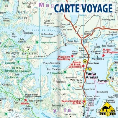 Chili - Carte voyage - 1 : 1 600 000