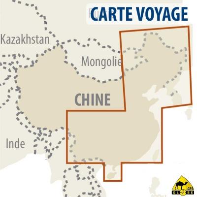 Chine Est - Carte voyage - 1 : 2 700 000