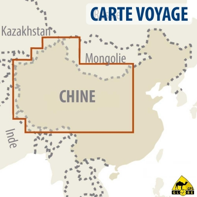 Chine Ouest - Carte voyage - 1 : 2 700 000