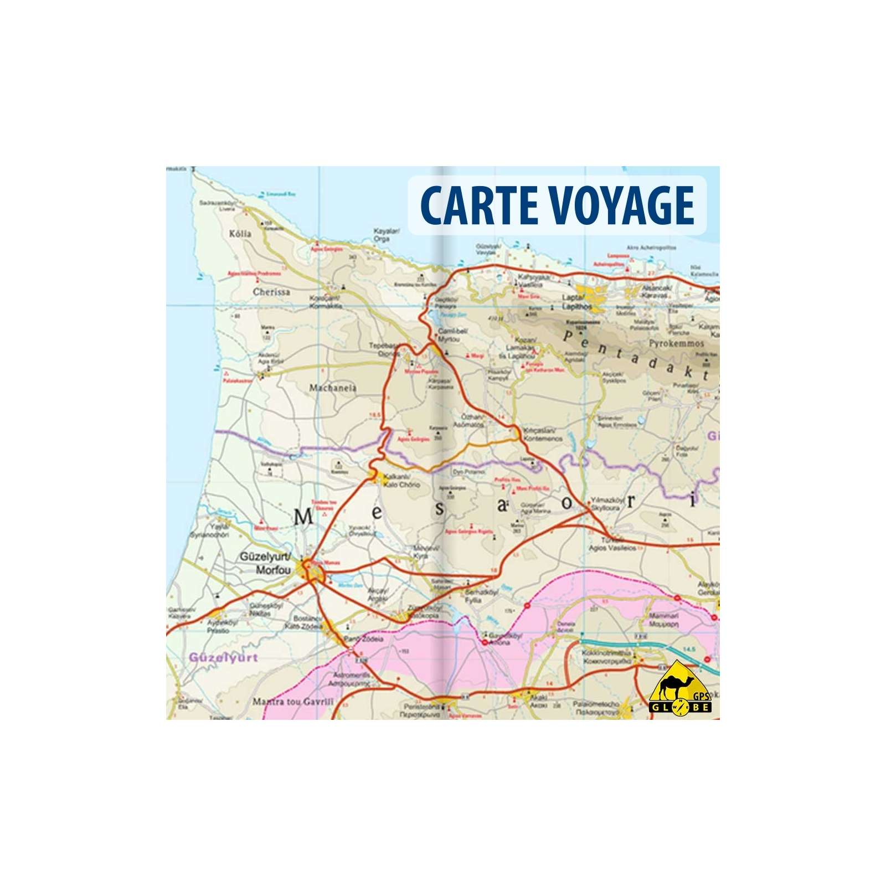 Carte Ign Chypre.Chypre Carte Voyage 1 150 000
