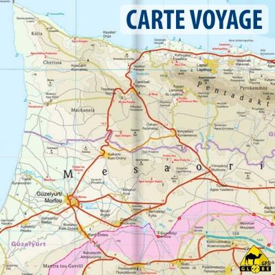 Chypre - Carte voyage - 1 : 150 000