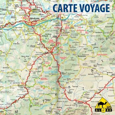 Maroc - Carte voyage - 1 : 1 000 000