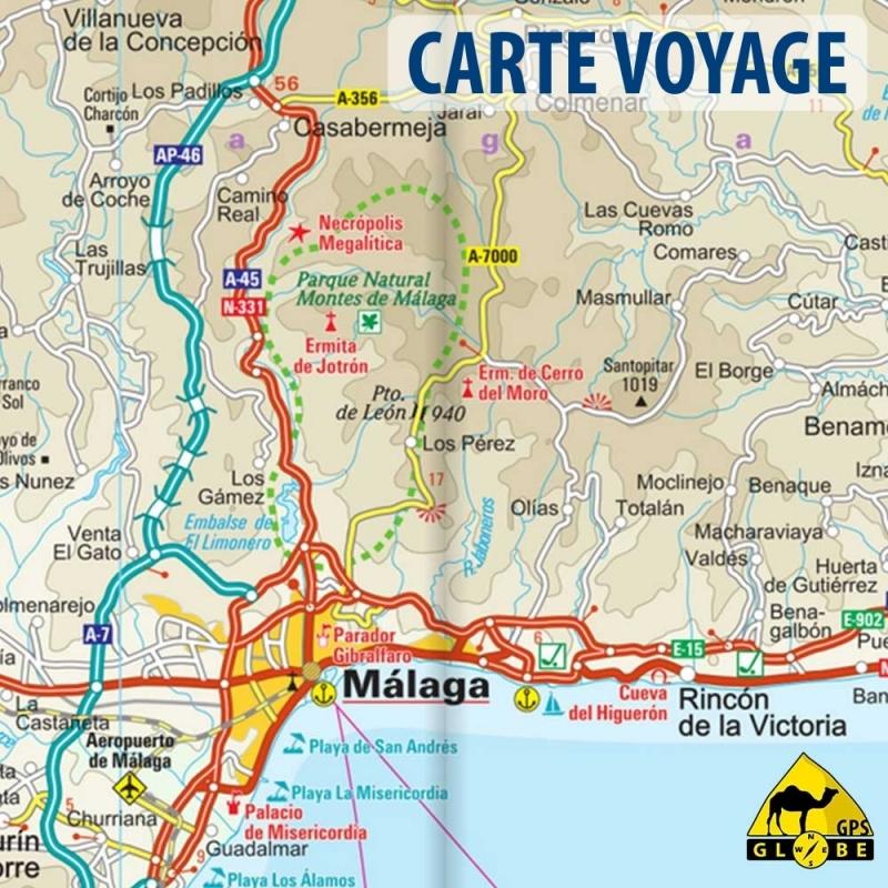 Carte Andalousie Ign.Espagne Andalousie Carte Voyage 1 350 000