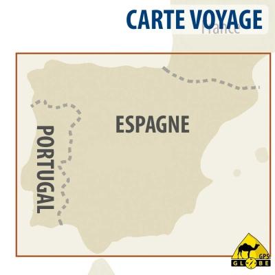 Espagne / Portugal - Carte voyage - 1 : 900 000