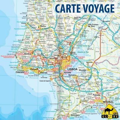 Portugal - Carte voyage - 1 : 350 000