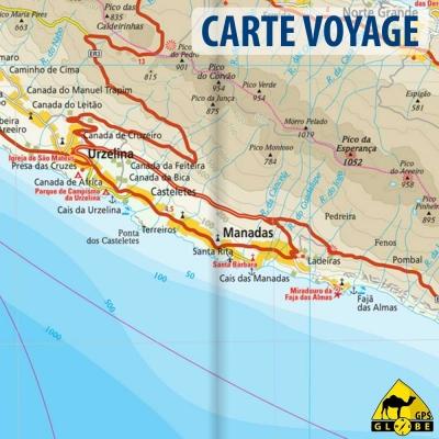 îles des Açores (Portugal) - Carte voyage - 1 : 70 000