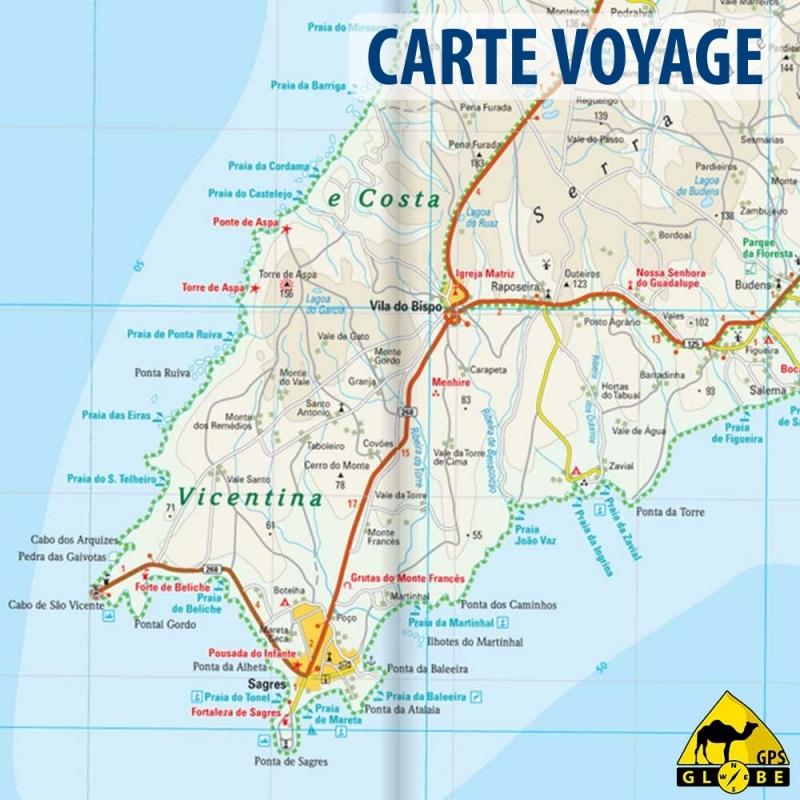 Algarve (Portugal) - Carte voyage - 1 : 100 000 - GPS-GLOBE
