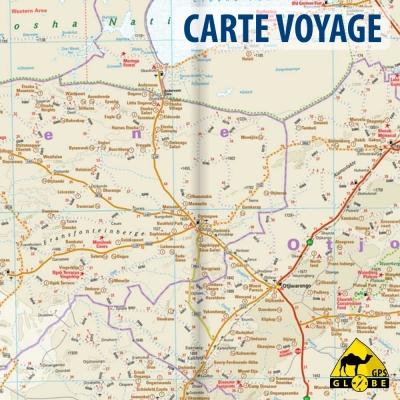 Namibie - Carte voyage - 1 : 1 200 000
