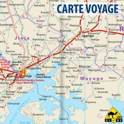 Ouganda - Carte voyage - 1 : 600 000