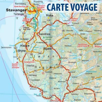 Norvège Sud - Carte voyage - 1 : 500 000