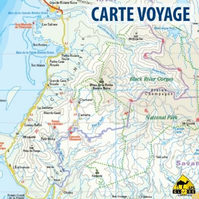 Maurice - Réunion- Rodrigues - carte voyage - 1 :90 000