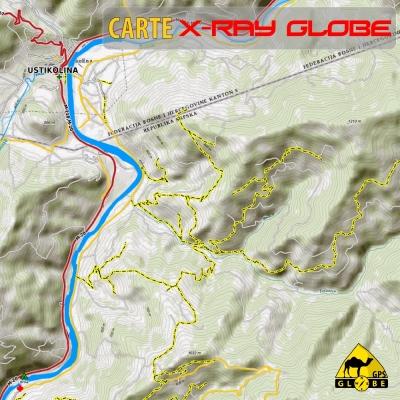 Bosnie - X-Ray Globe - 1 : 30 000 TOPO Relief