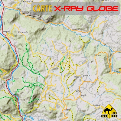 Monténégro - X-Ray Globe - 1 : 30 000 TOPO Relief