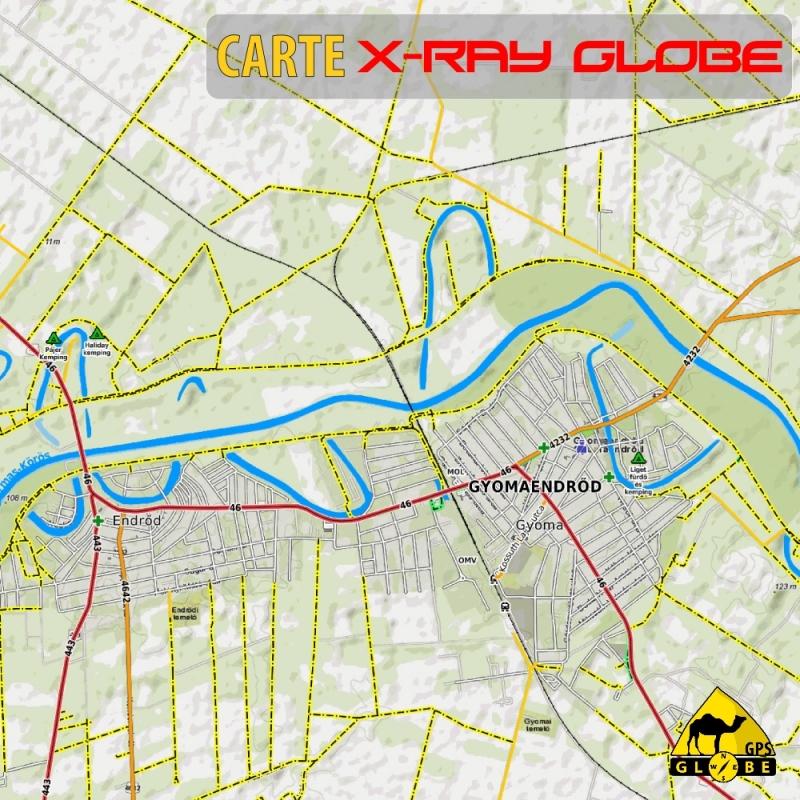Hongrie - X-Ray Globe - 1 : 30 000 TOPO Relief