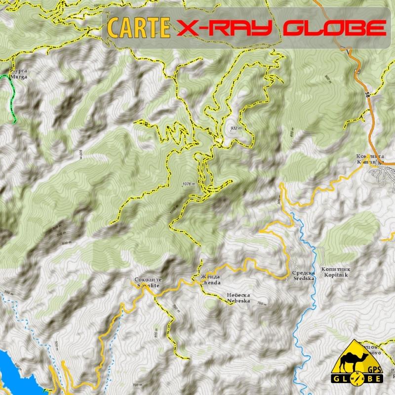 Bulgarie - X-Ray Globe - 1 : 30 000 TOPO Relief