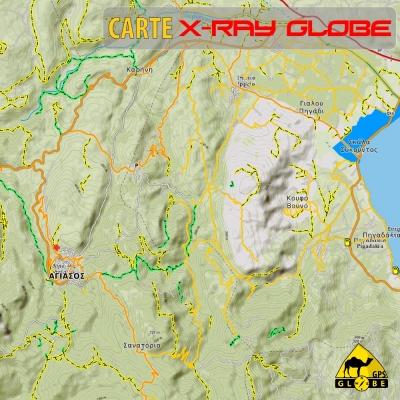 Grèce - X-Ray Globe - 1 : 30 000 TOPO Relief