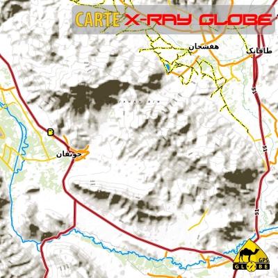 IRAN - X-Ray Globe - 1 : 100 000 TOPO Relief
