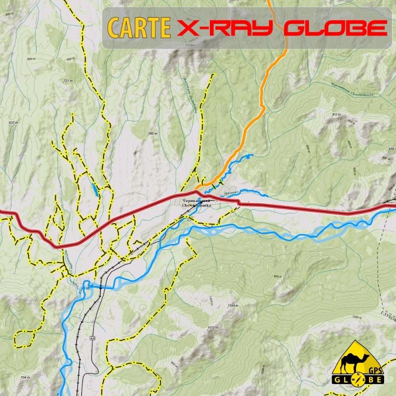 Kazakhstan - X-Ray Globe - 1 : 100 000 TOPO Relief