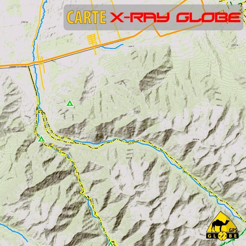Kyrgystan - X-Ray Globe - 1 : 100 000 TOPO Relief