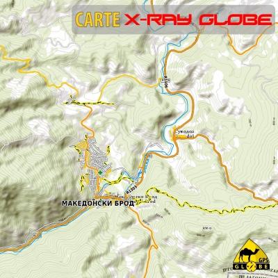 Macédoine - X-Ray Globe - 1 : 30 000 TOPO Relief
