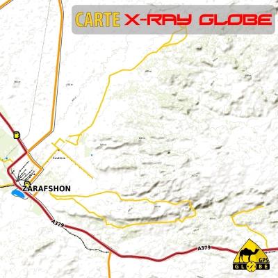 Ouzbekistan - X-Ray Globe - 1 : 100 000 TOPO Relief