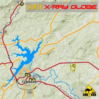 Afrique du sud X-Ray Globe - 1 : 100 000 TOPO relief