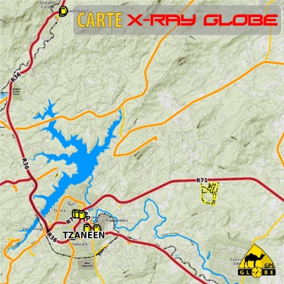 Afrique du sud X-Ray Globe - 1:100 000 TOPO relief
