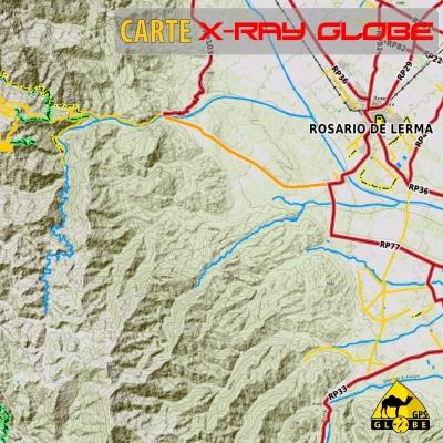 Argentine - X-Ray Globe - 1 : 100 000 TOPO Relief