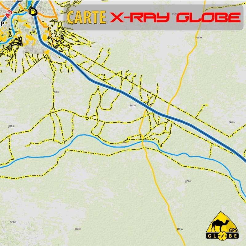 Botswana X-Ray Globe - 1 : 100 000 - TOPO Relief
