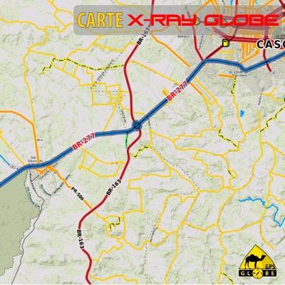 Brésil - X-Ray Globe - 1 : 100 000 TOPO Relief