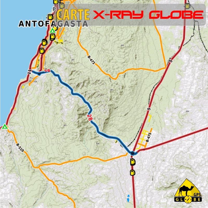 Chili - X-Ray Globe - 1 : 100 000 TOPO Relief