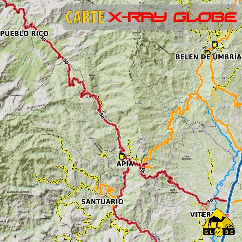 Colombie - X-Ray Globe - 1 : 100 000 TOPO Relief