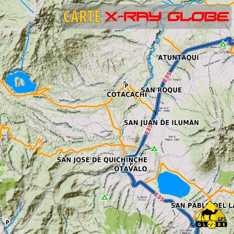 Equateur - X-Ray Globe - 1 : 100 000 TOPO Relief