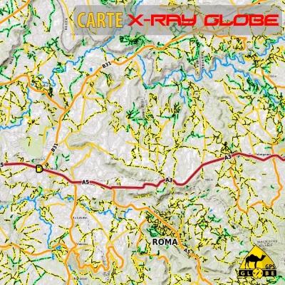 Lesotho - X-Ray Globe - 1 : 100 000 TOPO Relief