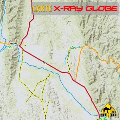 Namibie X-Ray Globe - 1 : 100 000 - TOPO Relief