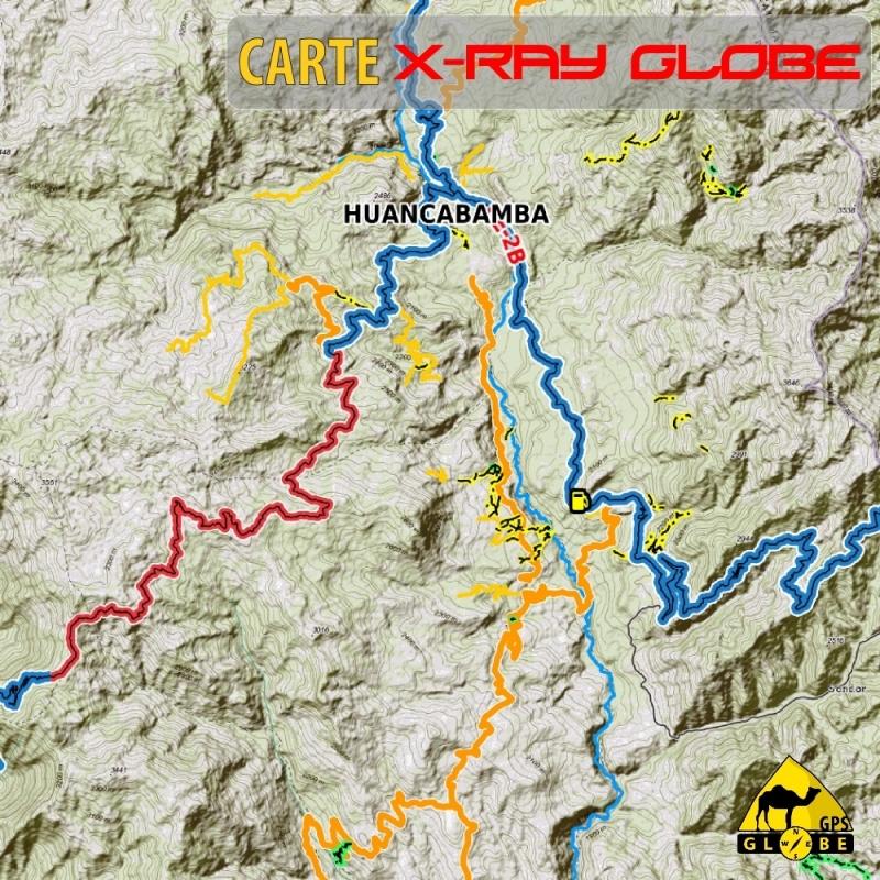 Pérou- X-Ray Globe - 1 : 100 000 TOPO Relief
