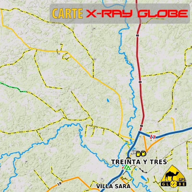 Uruguay - X-Ray Globe - 1 : 100 000 TOPO Relief