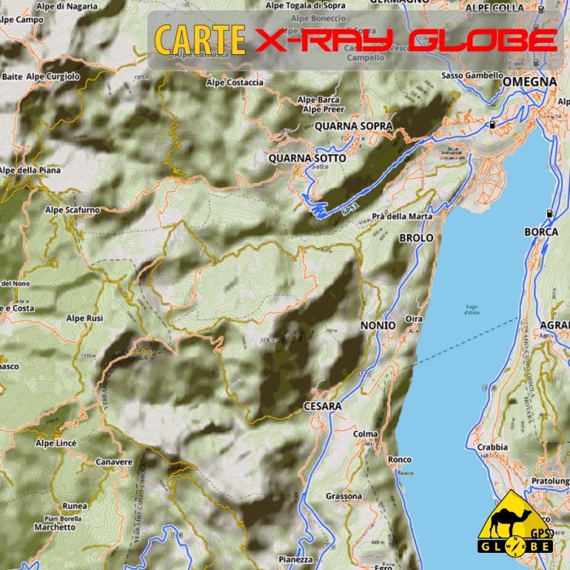Italie Nord - X-Ray Globe - 1 : 25 000 TOPO Relief