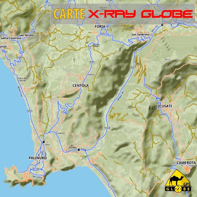 Italie Sud - X-Ray Globe - 1 : 25 000 TOPO Globe